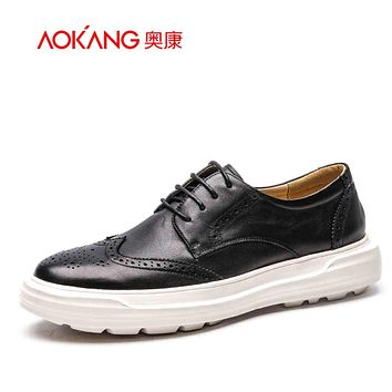 Men genuine leather shoes brogue shoes Walking Shoes Men Personalized Fitness Health Casual Men Shoes Male