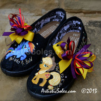 My Little Pony Themed Custom TOMS Shoes  Youth by ArtisticSoles