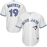 Men's Toronto Blue Jays Jose Bautista Majestic White Home Cool Base Player Jersey