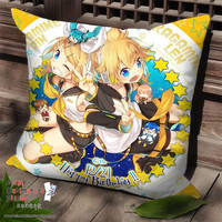 New Len and Rin Kagamine - Vocaloid Anime Dakimakura Square Pillow Cover SPC150