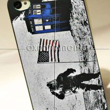 Tardis Doctor Who and Astronaut - for iPhone 4/4S case iPhone 5 case hard case hard cover