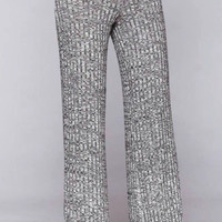 Flare Ribbed Sweater Knit Pants