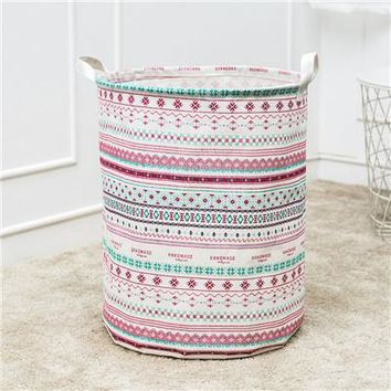 Laundry Basket Storage Waterproof Canvas Bag