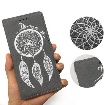 ca PEAPTM4 Phone Leather Case Iphone Dream Catcher Feather Wallet [10985318855]