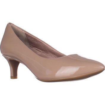 Rockport Total Motion Kalila Pointed Toe Kitten Pumps, Taupe, 8.5 US / 39 EU