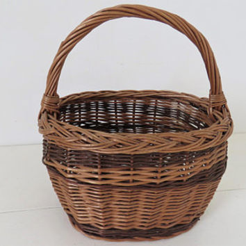 Vintage French, Wicker, Market, Small, Gathering Basket