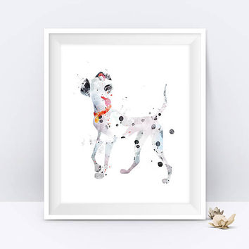 Pongo Watercolor Print 101 Dalmatians Kids Nursery Decor Pongo Disney Printable Disney Gift Baby Room Artwork Digital Download Wall Art
