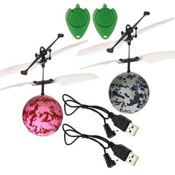 Set of Two Infrared Light Up Rebound Hovering Flying Spheres - T33540 — QVC.com