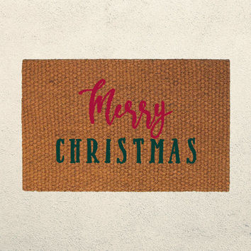 Merry Christmas Doormat – Holiday Doormat – Welcome Mat - Outdoor Rug - Home Decor, Holiday Decor, Christmas Decor, Seasonal Decor