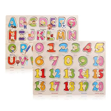 Child Kids Toys The Learning Journey Lift and Learn Puzzle With Number And Letter
