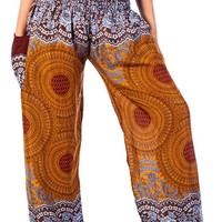 Boho Harem Yoga Pants - Rose Brown