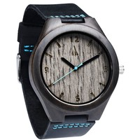 Ebony Watch // Silver Grey Oak Blue