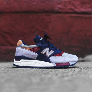 new balance 998 grey navy red