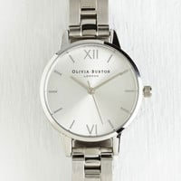 Luxe Teacup and Running Watch in Silver - Midi by Olivia Burton from ModCloth