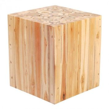 Cave Table Stool Solid Teak Wood