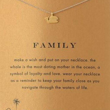 GOOD KARMA peace happiness key flower necklace Family