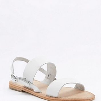 Penny Sling-Back White Sandals - Urban Outfitters