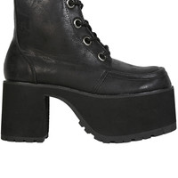 Distressed Ankle Nosebleed Platform Boot by T.U.K.