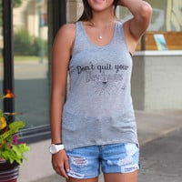 Vfish: Don't Quit Your Daydreams Tank {Grey}
