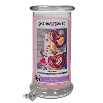 I love you sister! | Jewelry Greeting Candle