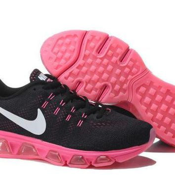 PEAPON3V Nike Air Max Tailwind Black & Pink Print Sneakers Running Shoes For Women