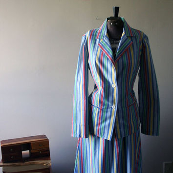 Striped Skirt Suit by JezzyBelles on Etsy