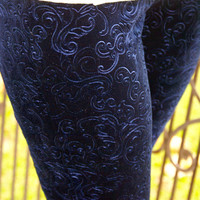 Moonlit Evening Leggings: Navy