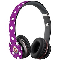 White Polka Dot on Purple Skin  for the Beats Solo HD by skinzy.com