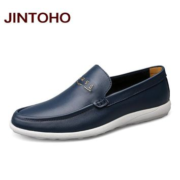Men Genuine Leather Shoes Casual Real Leather Male Shoes Luxury Men Shoes Fashion Men Loafers