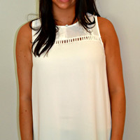 It's All in the Details Blouse - Off-White