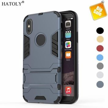 For Capa iphone X Case Rugged PC TPU Armor Case For iphone X Cover For Apple Iphone X Fundas Heavy Duty Armor HATOLY