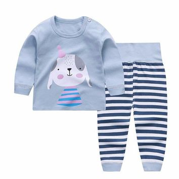 Newborn Winter Clothes Cute Dog Printed Girl T-shirt Set Casual Children Clothes Boys Winter Clothes For Kids Girls Clothing