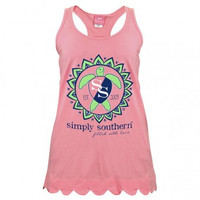 *Simply Southern Tank- Pink Turtle