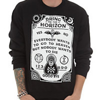 Of Mice & Men Floral Ampersand Girls Pullover Top