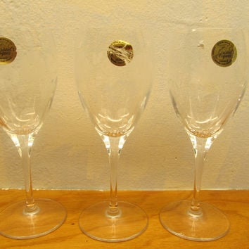 Etched Crystal Glasses