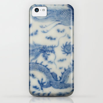 Damask vintage Monaco blue white girly ginger jar floral antique chinese dragon chinoiserie china iPhone & iPod Case by iGallery | Society6