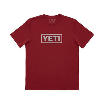 Badge Logo T-Shirt in Wine by YETI