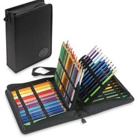 Tran Deluxe Pencil Case, Holds 120 Pencils, Black