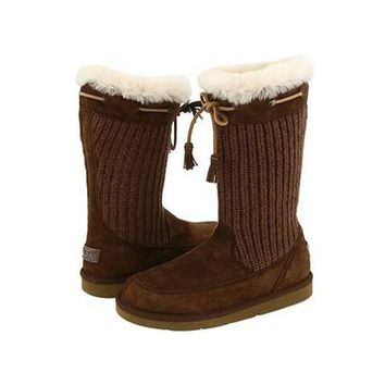 Ugg Boots Black Friday Deals Knit Suburb Crochet 5124 Chocolate For Women 93 17
