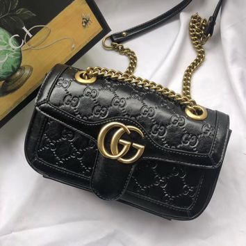 large size GUCCI GG WOMENS Mens Leather Purse Single-Shoulder Bag Crossbody work Bag Computer bag men leather purse wallet Women   handbag Business package Best Quality