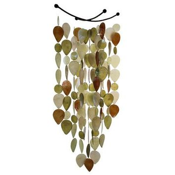 Capiz Shell Leaf Wind Chime - Nature Tones