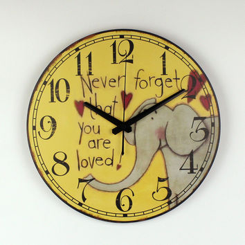 The Cartoon Elephant Wall Decoration Watch For Children Room Safe And Silent Kids Bedroom Decor Wall Clock Birthday Gifts