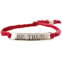Ettika The Be True Leather Bracelet in Fuchsia Silver