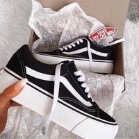 Vans Classic Old Skool Platform Canvas Sneaker Shoes