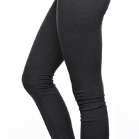 Foldover Slim Fit Yoga Pants - Charcoal