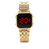 FOREVER 21 Digital LED Watch Matte Gold One