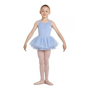 Girls Mesh Back Tank Tutu Leotard M456C by Mirella
