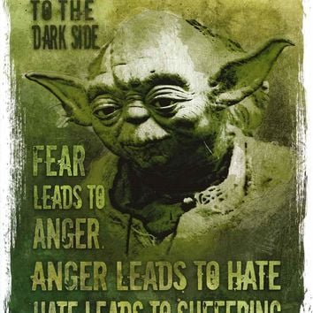 Star Wars Master Yoda Quote Poster 22x34