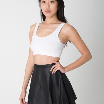 rsalh302ld - Distressed Lambskin Leather Circle Skirt