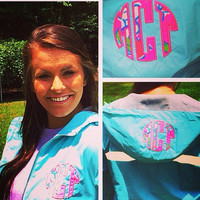 Lilly Pulitzer Monogrammed Charles Rivers Rain Jacket